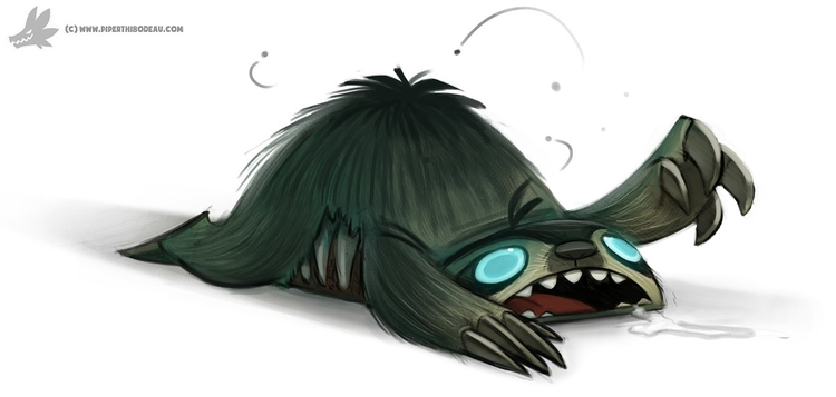 Daily Painting 890. Sloth Zombi - piperthibodeau | ello