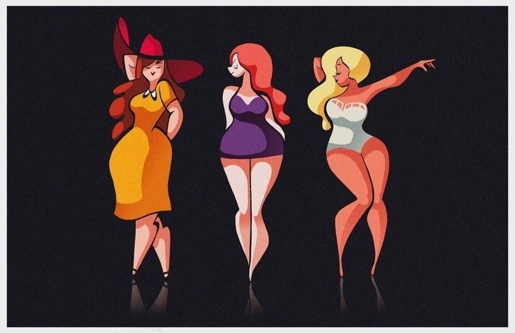 Curvy figures - girls, fashion, illustration - ashleyodell | ello
