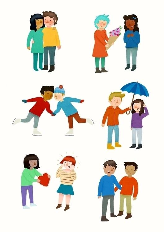 Couples - illustration, print, love - lindsayjhaynes   ello