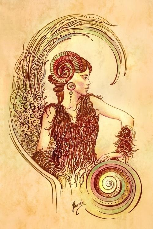 ARIES - Protective Angel Zodiac - annahannahart   ello