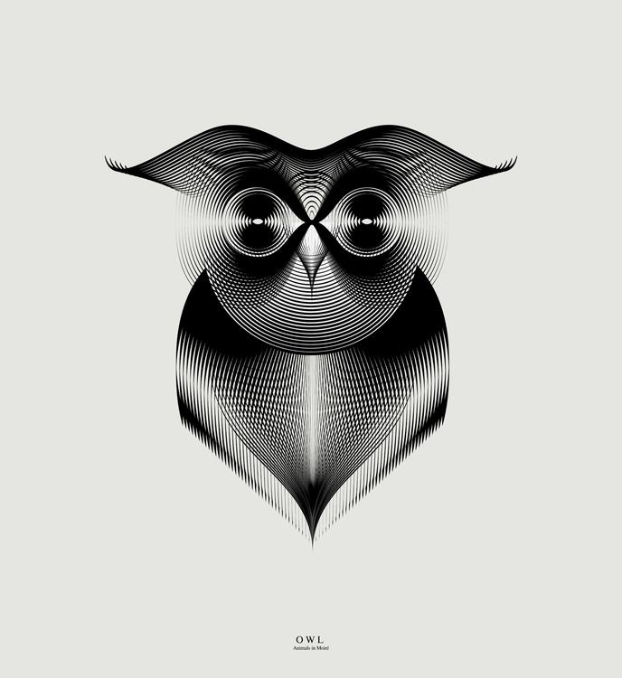 Owl | animals moiré - digitalart - andrea-2262 | ello