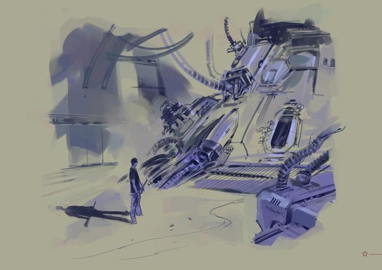Time machine portal design 3 - MovieDesign - theblackfrog | ello
