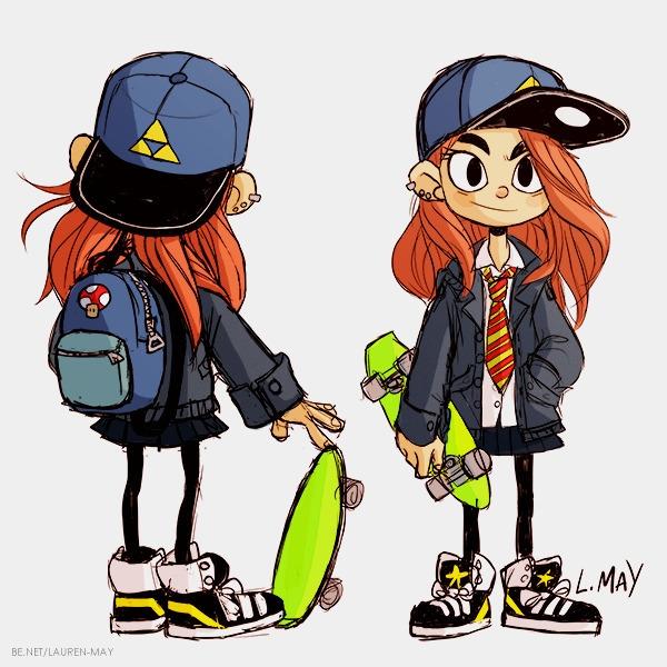 Olivia 'Oli' short - characterdesign - laurenmay-1325 | ello