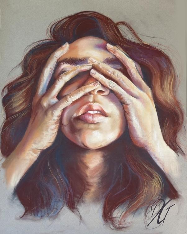 Hands, 2015 - pastels, chalkpastels - danielagamba | ello