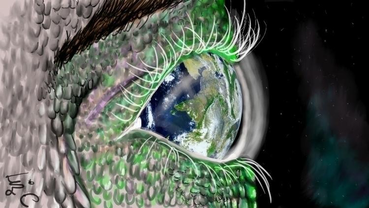earth eye - environment, illustration - lizzywhothefunkc | ello