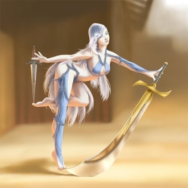 Blade Dancer - swords, blades, dancer - catnipandcocoa | ello