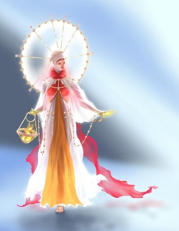 Sun Priestess - priestess, flames - catnipandcocoa | ello