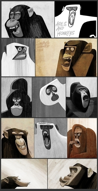 Ape Monkeys - Monkey, expressions - sukantod | ello