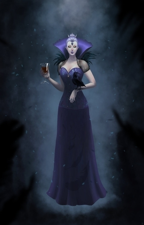 Raven Queen - alfredmanzano, raven - alfredmanzanoart | ello