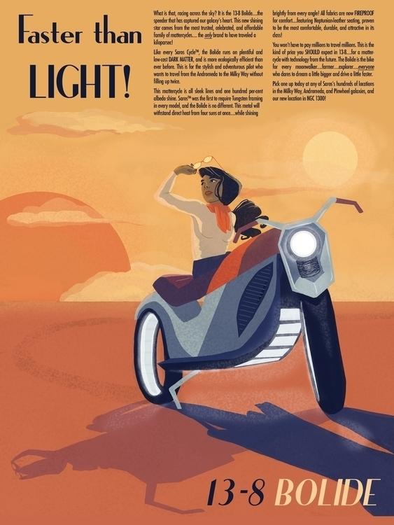 Futuristic Vintage Poster: Moto - danielagamba | ello