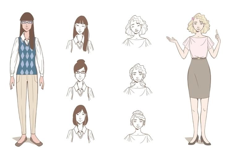 Assistants - secretary, girls, 2d - catnipandcocoa | ello