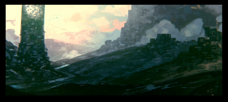 Tower - Lanscape, Illustration - theblackfrog | ello