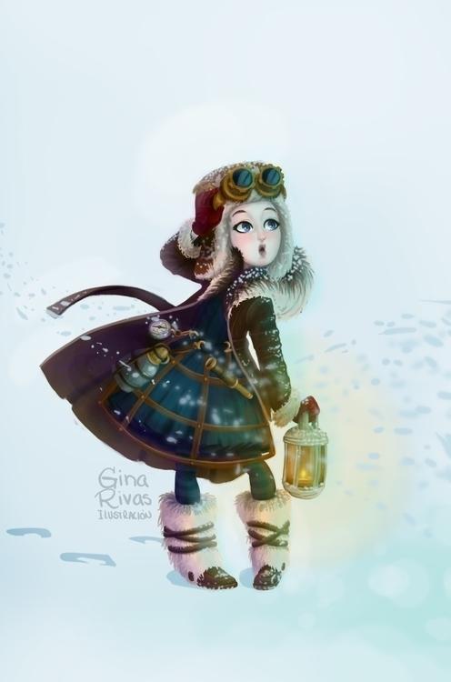 Steampunk explorer girl - steampunk - ginarivas | ello