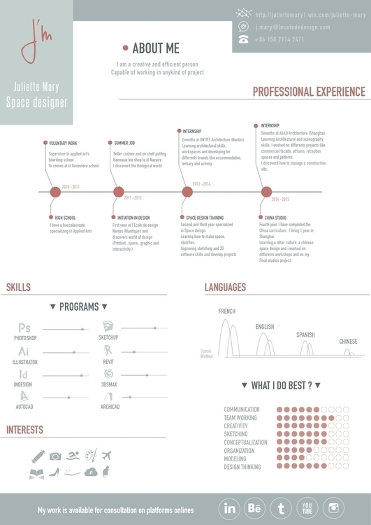 Curriculum vitae - graphicdesign - juliettemary | ello