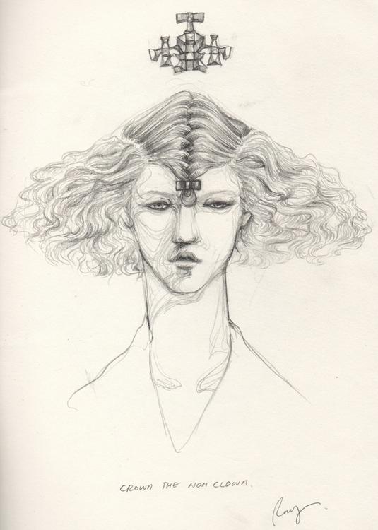 Crown clown - illustration, drawing - juichenhu | ello