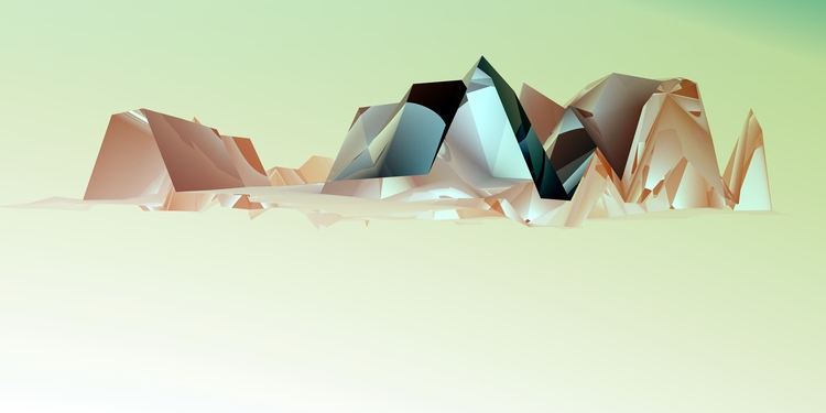 Mountians - abstract, fineart, graphicdesign - tremaineh | ello