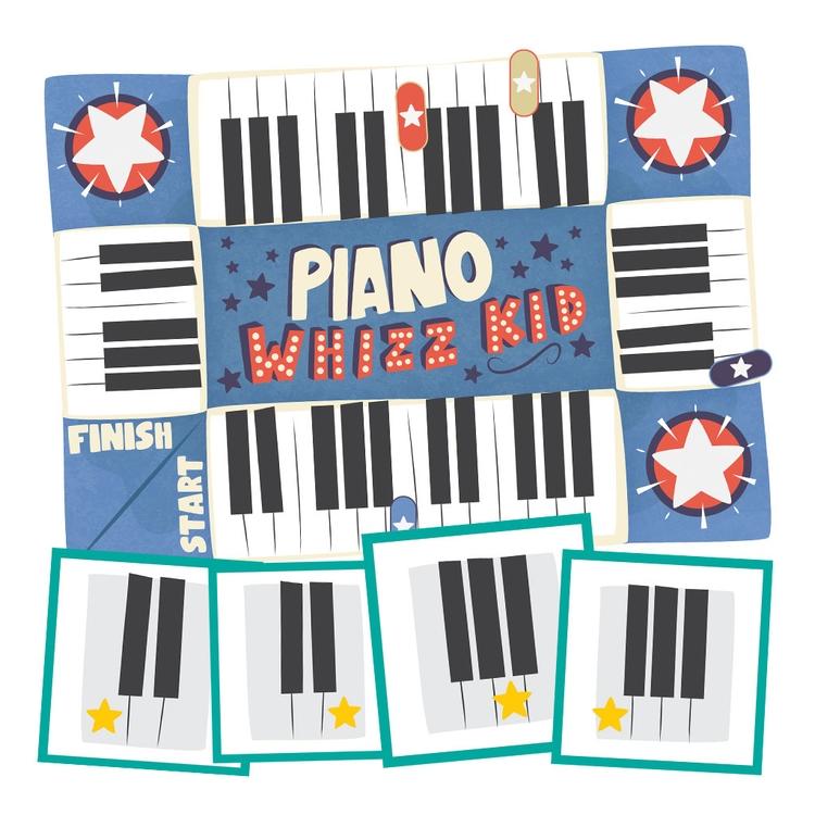 Piano Whizz Kid Game - game, boardgame - clairestamper | ello