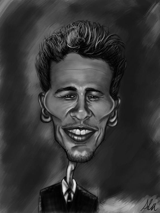 James Franco caricature - alfredmanzano - alfredmanzanoart | ello