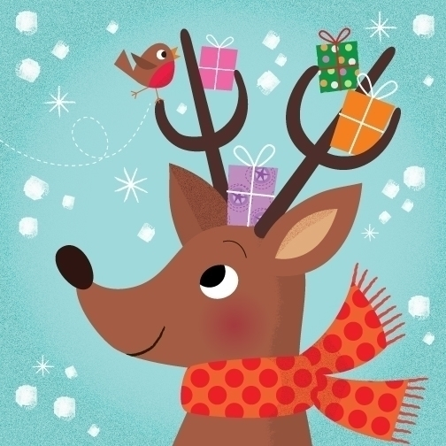 Reindeer | Holiday - illustration - amycartwright | ello