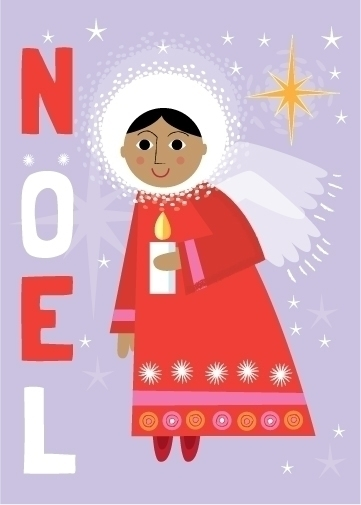 Noel | Angel - illustration, holiday - amycartwright | ello