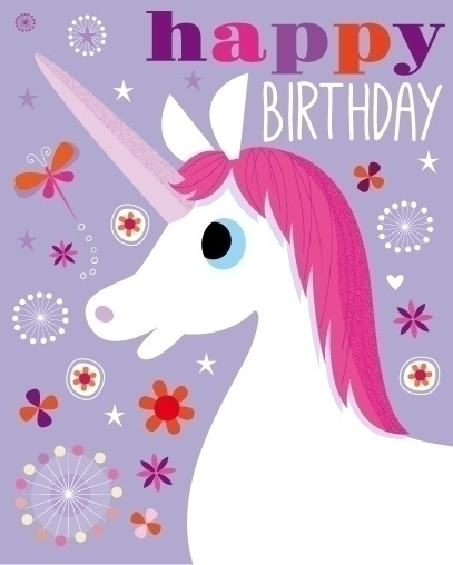 Unicorn | Birthday Card - illustration - amycartwright | ello
