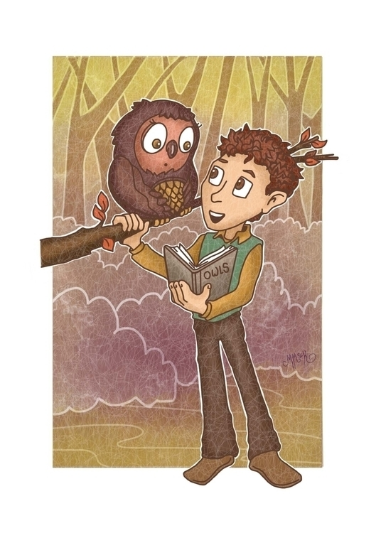 Owl Friend - owl, friend, illustration - mistymckeithen | ello