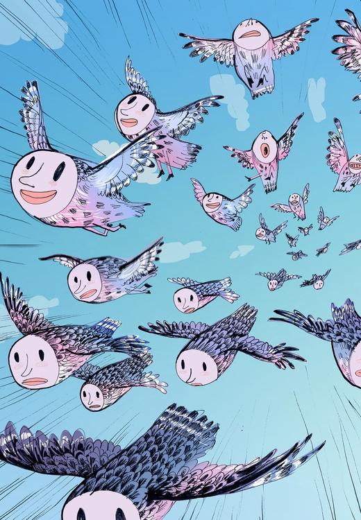 Air - illustration, characterdesign - katjuschkabudinski | ello