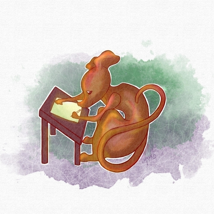 Mouse Artist - mouse, artist, art - mistymckeithen | ello