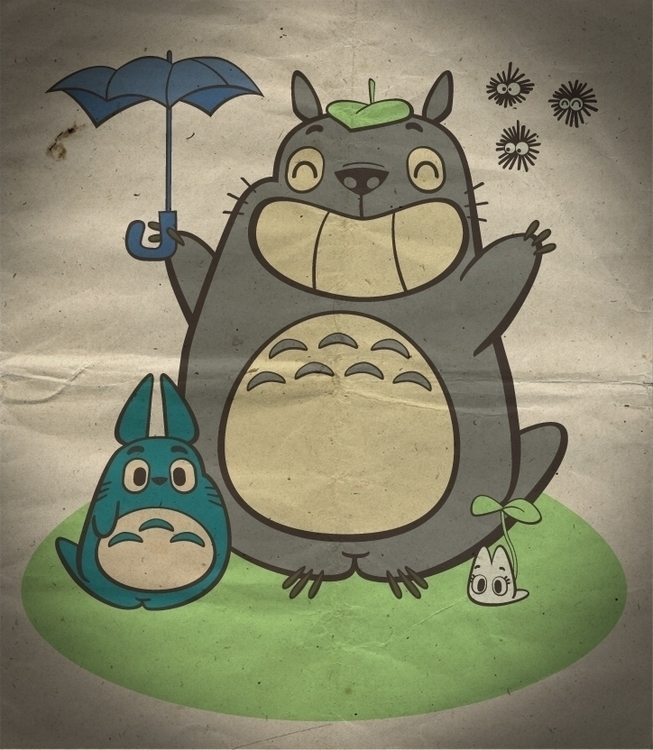 Totoro - illustration, characterdesign - fritsch-2365 | ello