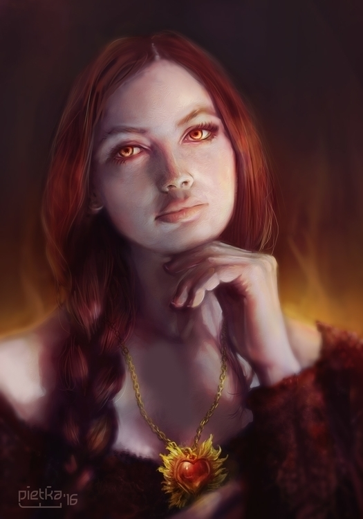 Melisandre - illustration, painting - pietkaw | ello