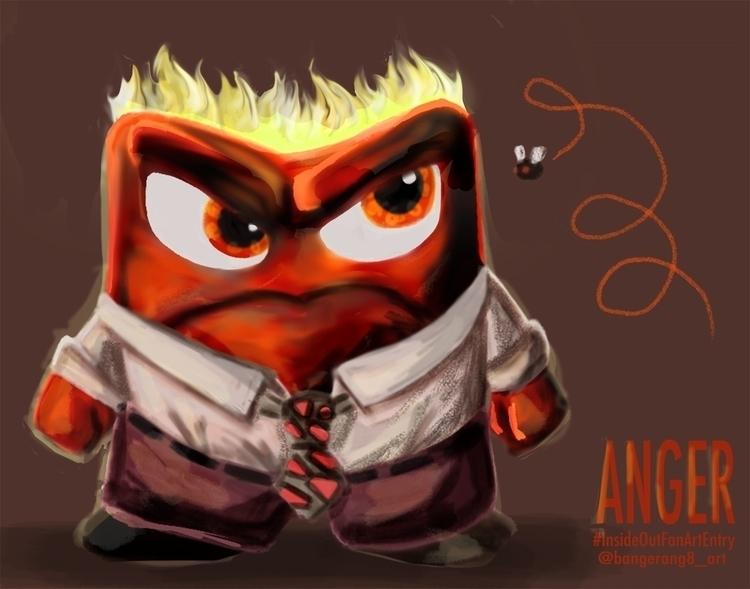 Anger digital 2015 - InsideOutFanArtEntry - dereknochefranca | ello