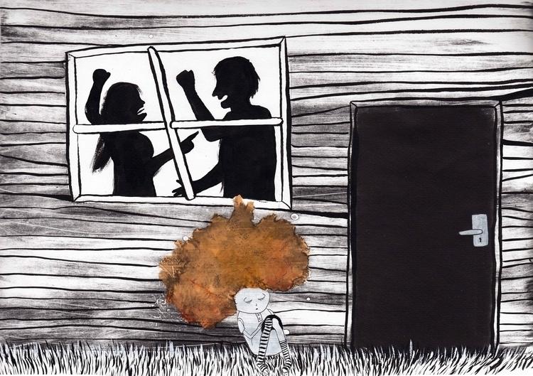 day quarrel turned clash - illustration - marikeleroux   ello
