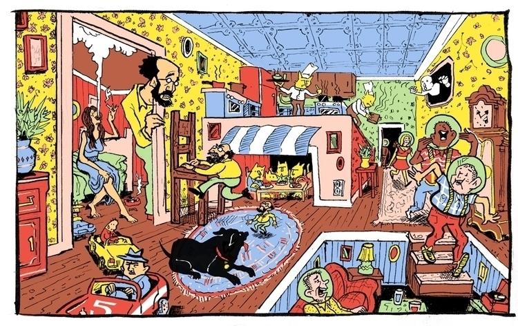 Fun House - cats, surreal, penink - danmccool | ello