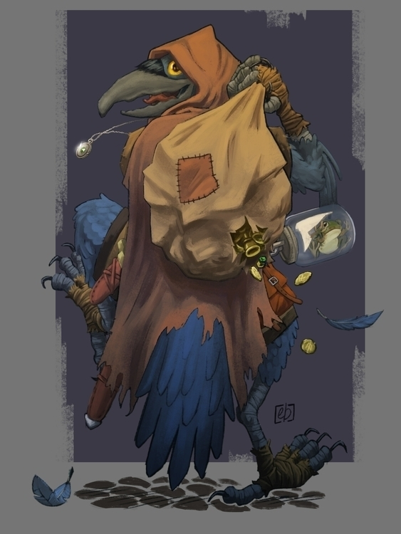Chakka, Kenku rogue - illustration - elliotboyette | ello