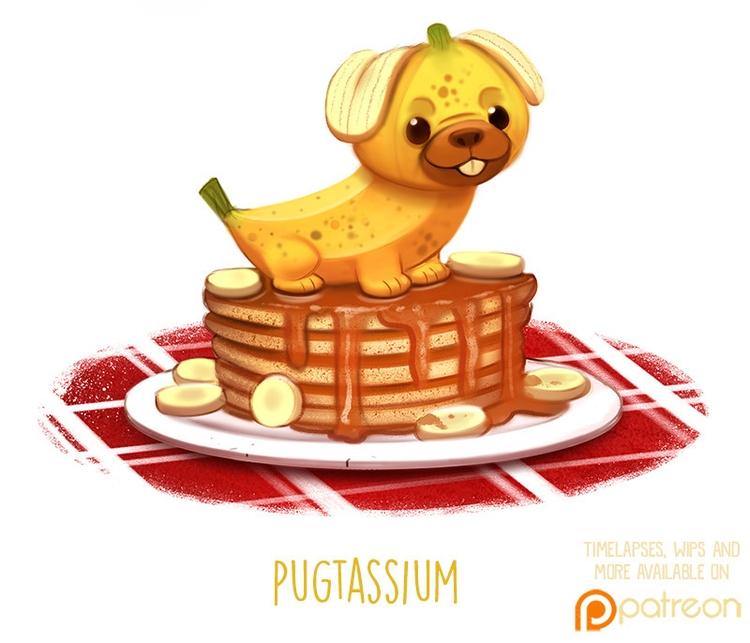 Daily Paint 1504. Pugtassium - piperthibodeau | ello