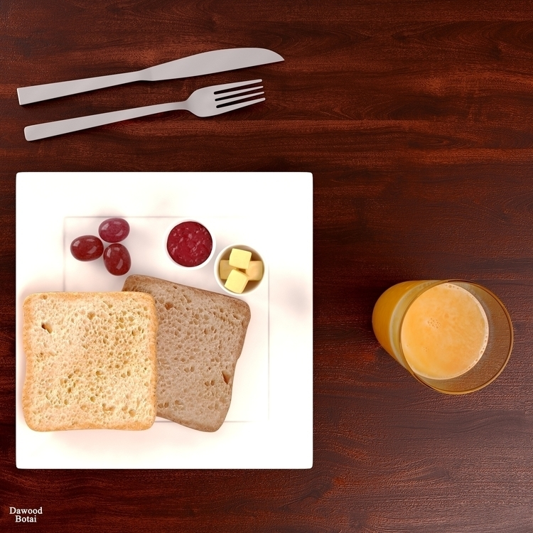 simple organized breakfast 3d M - dawood-3963 | ello