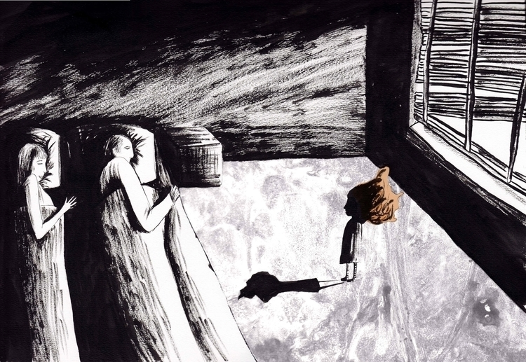 Mother brought home man - illustration - marikeleroux | ello