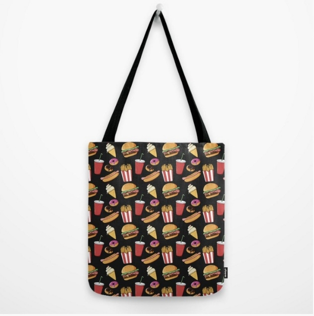 Fast Food Tote Bags - illustration - adelemanuti | ello