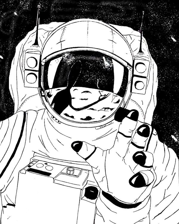 Major Tom - illustration, drawing - diegold | ello