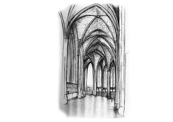 Church - drawing, micronpen, church - juliettemary | ello