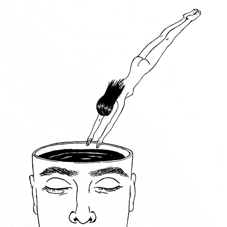 dip daydreams - illustration, society6 - diegold | ello