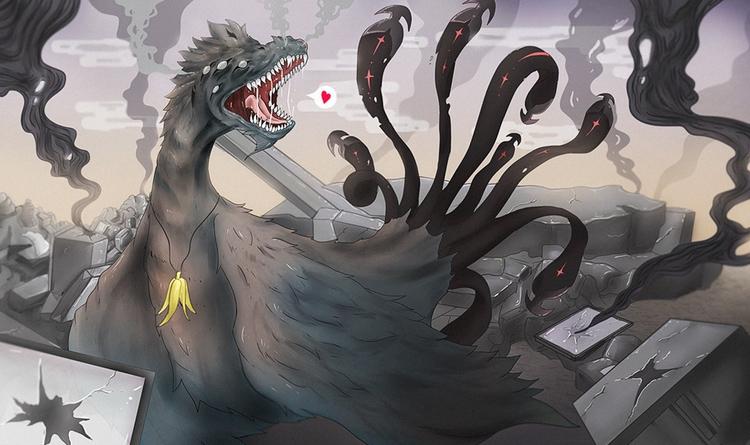 Trash GOD - dragon, drawing, digitalillustration - sergithedoor | ello