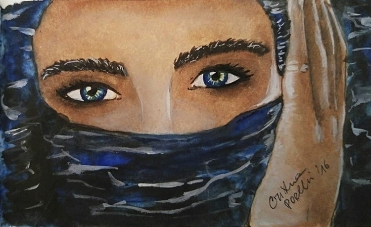 Eyes  - illustration, painting, drawing - cristinaporcelli | ello