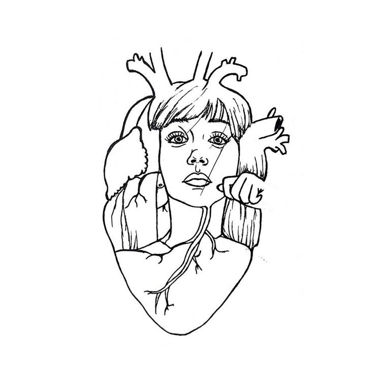Elastic Heart - illustration, penink - diegold | ello