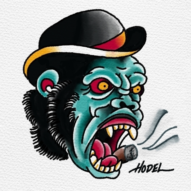 Gorilla - illustration, digitalart - matthewhodel | ello