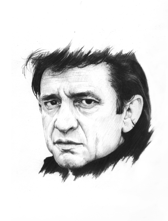 Johnny Cash - johnnycash, cash, portrait - arnaud-1410 | ello