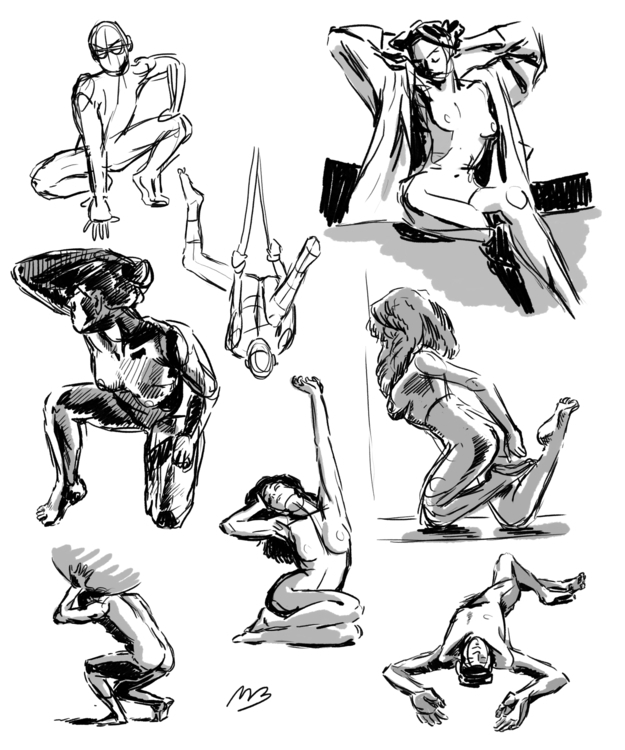 figure drawing studies - figuredrawing - meganbarker | ello