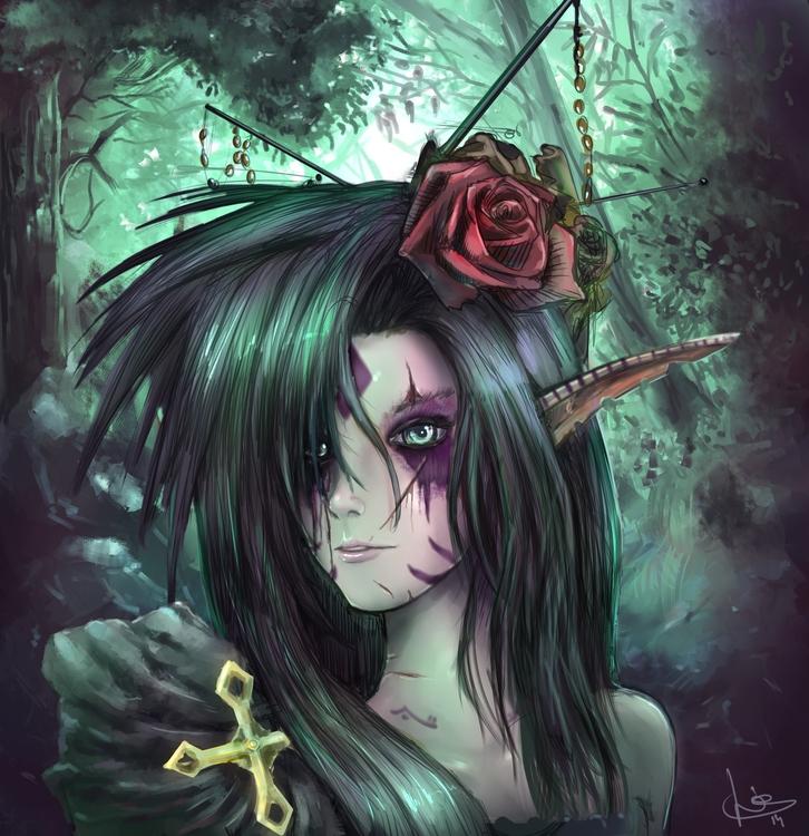 Corrupted flower - digitalart, portrait - malthuswolf | ello