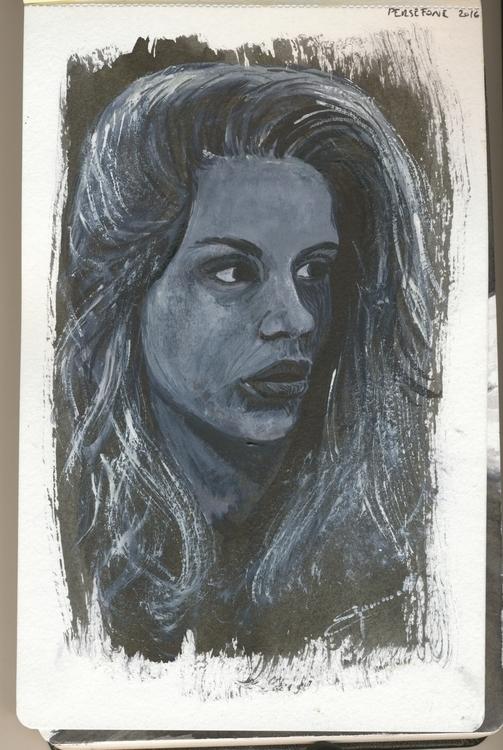 Sketch moleskine watercolour - black - tizianagiammetta | ello