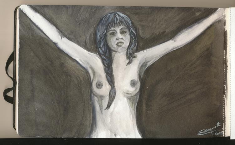 Sketch moleskine watercolour - watercolor - tizianagiammetta | ello